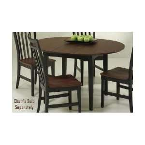 Cherry Wood Round Dining Table with Leaf Furniture & Decor