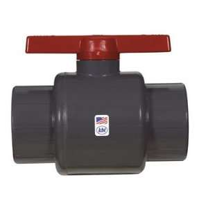 Threaded PVC Schedule 80 Commercial Ball Valve, Gray