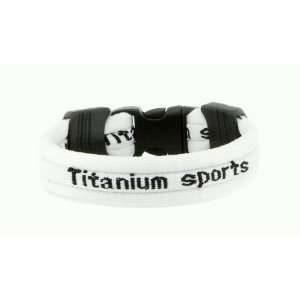 Ionic Titanium Sports Bracelet   White