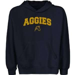 UC Davis Aggies Youth Navy Blue Logo Arch Pullover Hoody