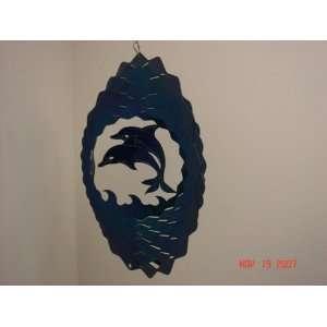 Dolphin Wind Spinner 11 Blue: Patio, Lawn & Garden