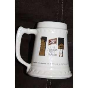 American Beer in Japan Commerative Ceramic Mug Stein