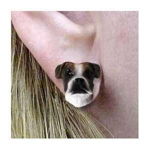 Uncropped   Dog Figurine Jewelry   Stud Earrings