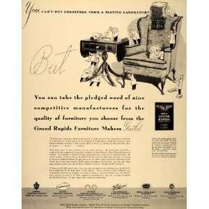 1940 Ad Grand Rapids Furniture Makers Guild Chair Table