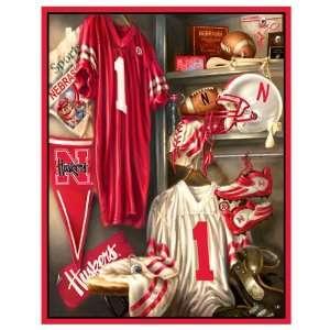 UNIVERSITY OF NEBRASKA HUSKERS Locker Room Scenic Blanket UNIVERSITY