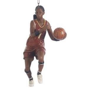 Female African American Basketball Player Christmas