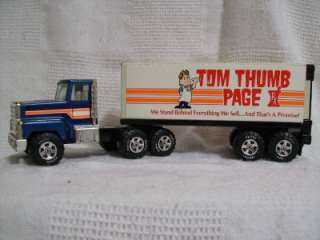 Vintage Rare Nylint Tom Thumb Page Semi Truck and Trailer