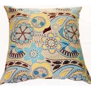 Decorative Corduroy Cushion Pillow Cover 20X20   Blue