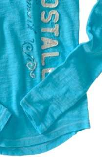 Aeropostale AERO womens LONG SLEEVE V neck T shirt Tee Top XS,S,M,L,XL