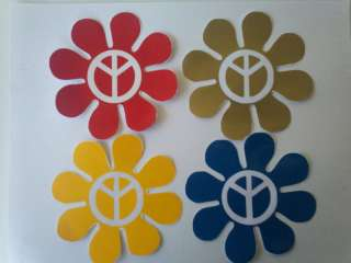 Peace Retro Flower Car and Truck Decal Vinyl Stickers