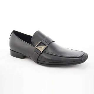 Kenneth Cole Mens New York Extended Play Black Leather Loafer Shoes