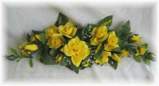 ROSE SWAG YELLOW Wedding Table Centerpiece Silk Flowers Arch Gazebo