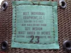 Vietnam War US Army M1965 Web Pistol Belt Field Gear