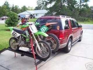 Trailer Double Motorcycle carrier hauler ramp rack USA