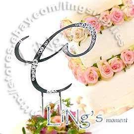 Swarovski Crystal Monogram AKS Wedding Cake Topper