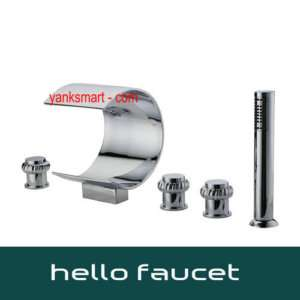 Luxury 5 Pcs Bath Tub Faucet With Hand Held Shower 9984