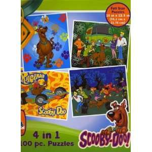 Scooby Doo 100 Piece 4 in 1 Puzzle Set  Toys & Games