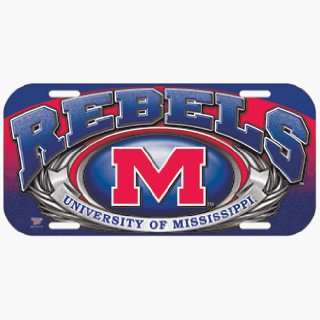 NCAA Ole Miss Rebels High Definition License Plate *SALE