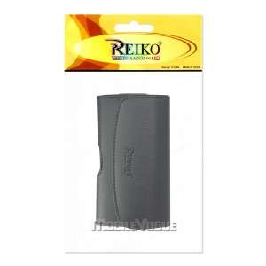 Horizontal Leather Pouch Case For HTC HD2 T Mobile Plus Size Black