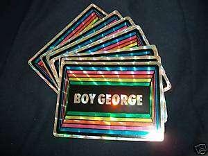 Boy George/Culture Club Vintage 80s Hologram Sticker