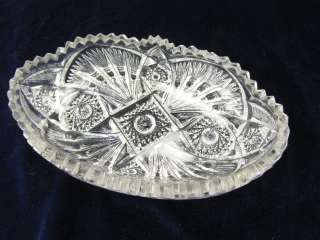 Vintage NuCut Imperial Glass Oval Bowl