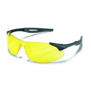 Inertia Safety Glasses, Amber Lens, Black Frame
