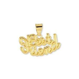 Solid 14k Yellow Gold Best Friend Fashion Pendant Jewelry