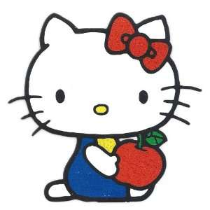 Hello Kitty red bow holding an apple Heat Iron On Transfer for T Shirt