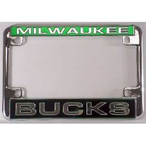 Milwaukee Bucks NBA Chrome Motorcycle RV License Plate