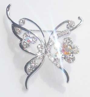 Shining Swarovski Crystal Pin/Brooch . Clear Shining crystal