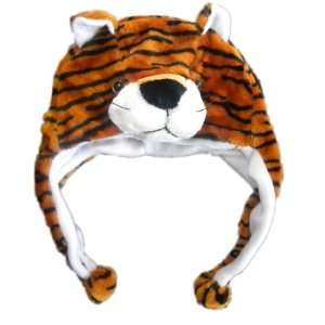 Plush Tiger Brand New Animal Hat High Quality Polyester