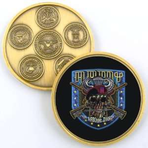 ARMY 82ND AIRBORNE DIVISION CHALLENGE COIN YP414
