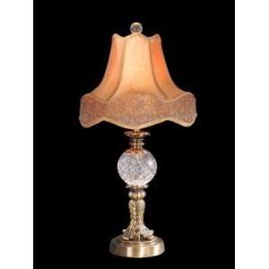 Dale Tiffany Archer Crystal Lamp in Antique Brass Finish