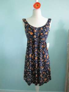 Forever 21 NWT Navy Blue Orange Dress XS