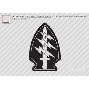 (2x) Special Forces Airborne Insignia   Decal   Die Cut