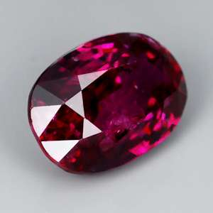 Unheated 1.04ct Oval Natural Gem Mulberry Wood Red Ruby, MADAGASCAR