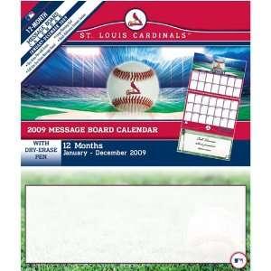 Louis Cardinals MLB 12 Month Message Board Calendar