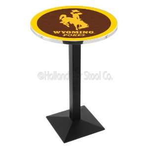 University of Wyoming Cowboys L217 Pub Table