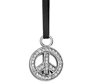 Queen King Baby Studio CZ Pendant Leather necklace 925