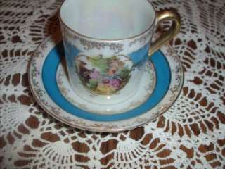Vintage Royal Sealy China Victorian Footed Teacup & Saucer