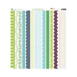 Quick Strips Cardstock 12x12 Border Stickers Sheet: Cool: Electronics