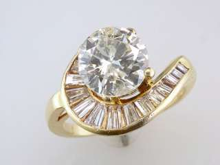 Diamond .75ct 18K Yellow Gold Engagement Wedding Ring Semi Mount