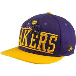 New Era Los Angeles Lakers Purple Gold Marvel Iron Man