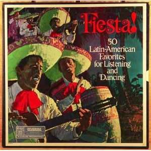 Fiesta   50 Latin American Favorites (Box Set of 4) Lp Music