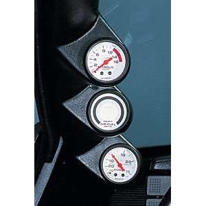 Auto Meter 12109 Black Triple Pillar for 2002 2004 Ford