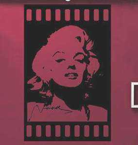 Marilyn Monroe Mural Art Wall Stickers Vinyl Decal Home Room Decor DIY