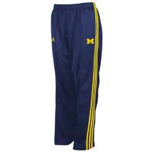 Michigan Wolverines adidas Navy 3 Stripe Track Pant