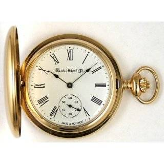 Mechanical Pocket Watch with High Polish Gold Open Face Case Watches