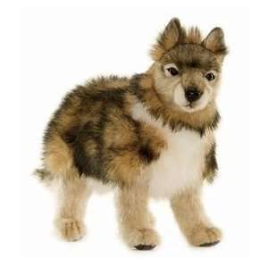 Hansa Wolf Cub Stuffed Plush Animal, Standing Toys