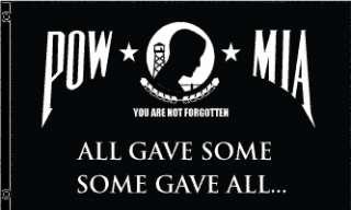 POW MIA NOT FORGOTTEN USA SIGN FLAG 3FT X 5FT BANNER